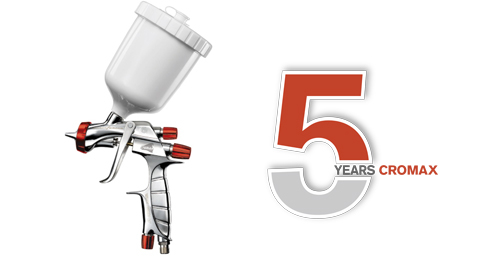 The limited edition Iwata LS400 silver spray gun